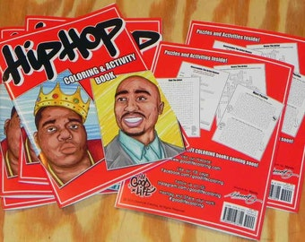 HIP-HOP LEGENDS Coloring And Activity Book