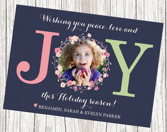 Photo Christmas Card, Printable