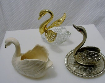 Swan Ring Holder, Ring Dish, Trinket Dish Collection