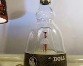 Vintage Collector Bols Ballerina Gold Liqueur Bottle  Dancing Musical Box  Le Bleu Danube  Christmas Gift