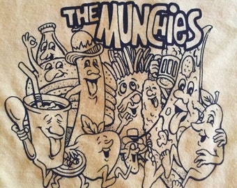 vintage deadstock t shirt with screenprint graphic | xs small | the munchies tee