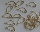 Simple Brass Fibulae - set of 6