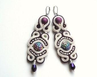 Bakman - soutache earrings