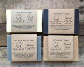 Soap Set for Men - All Natural soap, Shave soap, Detox Charcoal soap, Oatmeal Stout Beer Soap, Orange Hops, Groomsmen gift, Holiday gift