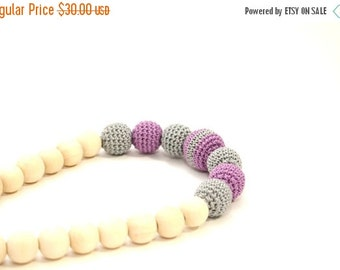 25% off Aurora Crochet Necklace - Nursing Necklace, Teething Necklace, Babywearing, Breastfeeding jewelry