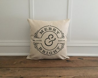 Merry & Bright Pillow Cover