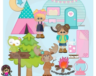 2016 Glamping  Clip art  Clipart Graphics  Commercial Use