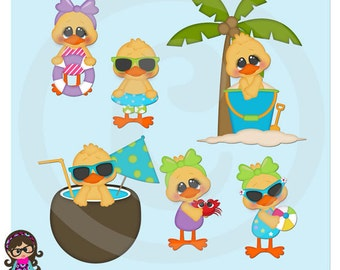 2016 Beach Ducks Clip art  Clipart Graphics  Commercial Use