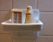 Doctor Who Soap - TARDIS - Dalek - The Dr. - Fun Nerd Gift - Whovian Suds - Goat Milk Soaps - Set of 2