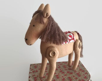 Personalized Pony with Floral Blanket