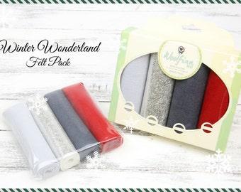 WINTER WONDERLAND Felt Pack // Winter Wool Felt // Christmas Felt // Holiday Variety Pack // Felt Gift Pack