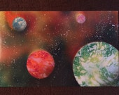 VERSICOLOR original one of a kind spray paint space painting art