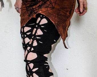 Plain Black Double Woven Full Length Garter Leggings