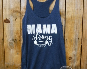 Mama Strong Athletic Tank- Ladies