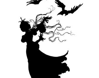 Brothers and Ravens {I & II} Art Print
