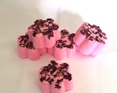 Jasmine Scented Bath Bombs with Dried Rose Petals