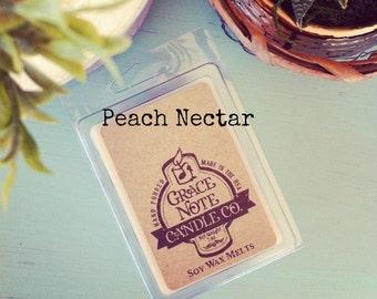 PEACH NECTAR Soy Wax Tarts,  Scented Soy Wax Melts, Soy Tarts, Soy Melts, Wax Tarts, Candle Melts