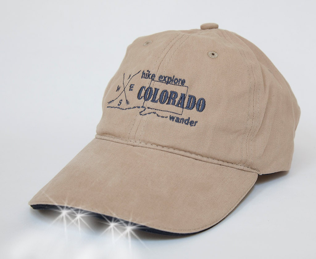 home state of colorado baseball hat with built in flashlight