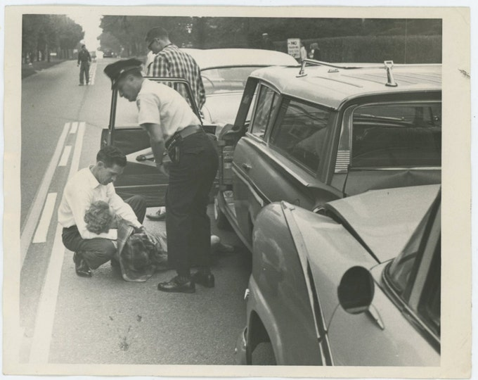Traffic Accident, 1960s Vintage Photo (65460)