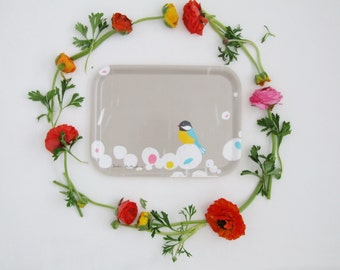 Little Birdy - rectangular birchwood tray
