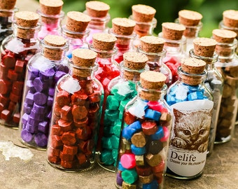 1 Bottle (40pcs) Sealing Wax Beads in Bottle for Wax Seal Stamp