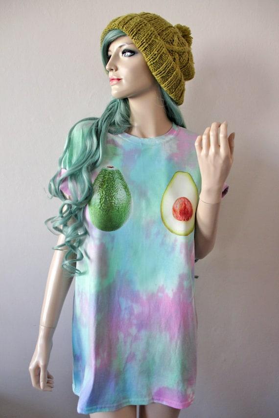 Avocado Tie Dye T-Shirt hipster tumblr cute gift vegan
