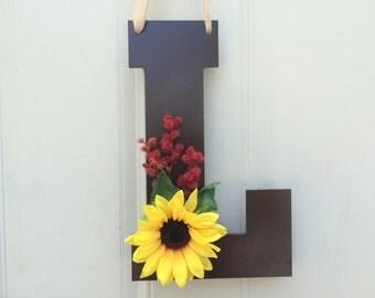 Front Door Decoration - Door Hanger, Gift Guide, Monogrammed Gifts, Decorative Letters, Front Door Monogram