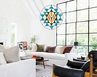 Summer sale 20%Off coupon code: SUMMERSALE2017   Sri Yantra Sacred Geometry Suncatcher mandala yoga decoration healing your home