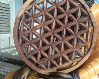 Summer sale 20%Off coupon code: SUMMERSALE2017    wood flower of life hand carved yoga meditation mandala