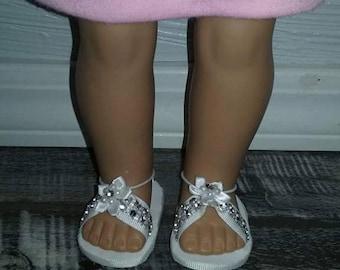 American girl doll rhinestone sandals