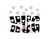 """BIG HUG VALENTINE HEARTs  Stamp by Deep Red -  2""""x2""""   Cling Stamp for Cards and Scrapbooking"""