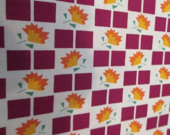 Quilting Weight Cotton Fabric by Denyse Schmidt for Free Spirit Franklin Checkerboard Bloom in  Glade 1 yard