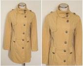 1800's Steampunk Mid-Century Modern military replica coat - handmade OOAK goldenrod / mustard yellow soft woolen jacket - SIZE: MEDIUM