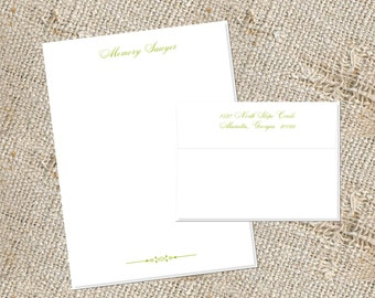 Social Letter Sheet Stationery - 25 letter sheets & envelopes; Letter Sheet Stationery;  Stationery for Letter Writing ;  5x7 Letter Sheets