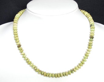 Necklace Butter Jade 8mm Rondell NSJB3184