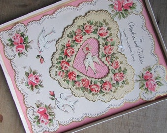 Vintage 3D Valentine Card Boxed Unused
