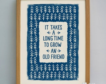 Friendship Print | Friendship Gift | Friends Gift | Gifts for Friends