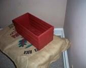 Rustic Wood Storage Crate, Wood  Crate, DVD Shelf's, Fruit and Vegetable Storage Crate, Rustic Wood Crate, Wood Crate Centerpiece,
