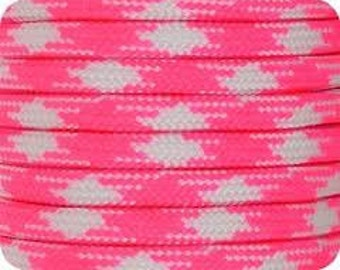 100 ft of Fashionista (Hot Pink & White) 550 Paracord
