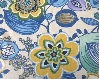 OUTDOOR Pillow Cover in a Blue and Yellow Floral Print