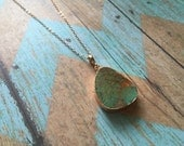 Turquoise Electroformed Necklace