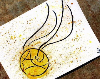 Harry Potter Golden Snitch painting