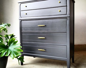 AVAILABLE Mid Century Tallboy / Mid Century Dresser