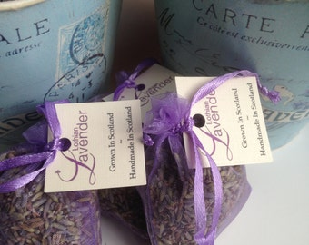 Organza lavender bag - Pure lavender no fillers - Handmade in Scotland - Scottish gift - Moth Repellers
