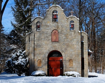 Portiuncula Chapel in Winter I  (FREE SHIPPING in the U.S. only)