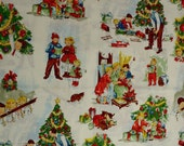"2 Yards of ""Christmas Time With Dick and Jane"" by Nicole de Leon for Alexander Henry Fabrics collection 1999 Fabric"