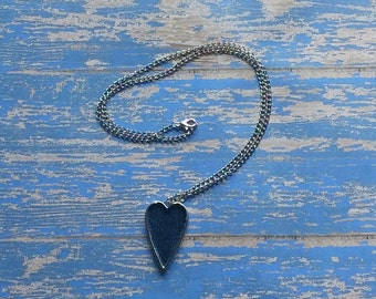 SALE!  Denim Heart Necklace