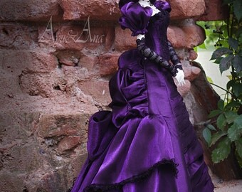 Women's Life: Spinster OOAK handmade dress set for bjd dollfie sd sd16 zenith soom supergem clothing clothes size historical victorian style