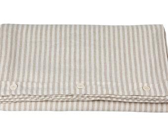 DUVET COVER - linen duvet cover - queen duvet cover - full duvet cover - king duvet cover - twin duvet cover - linen bedding - striped duvet