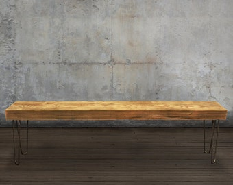 6' Solid Reclaimed Wood Beam Bench